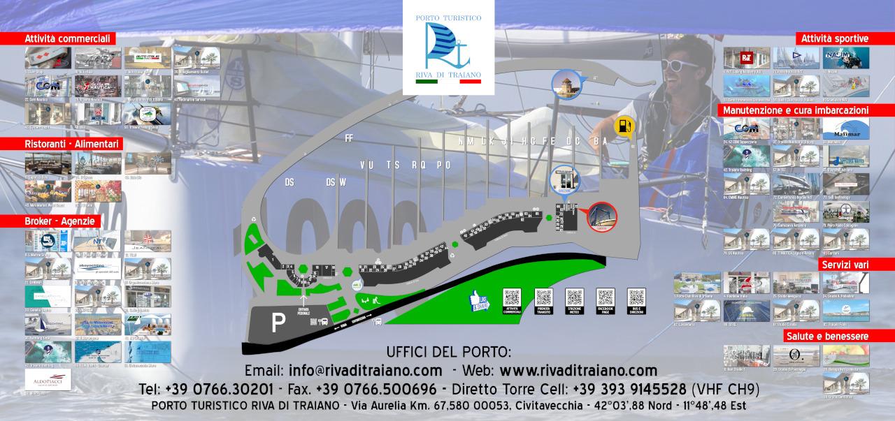 Planimetria Porto Turistico Riva di Traiano
